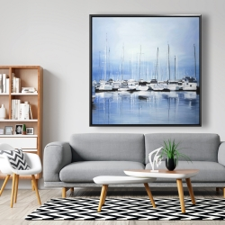 Framed 48 x 48 - Boats at the dock