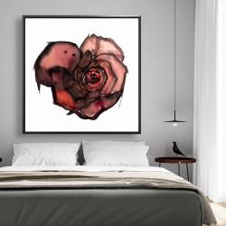 Framed 48 x 48 - Dark rose