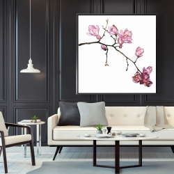 Framed 48 x 48 - Branch of cherry blossoms