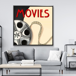 Framed 48 x 48 - Film on poster