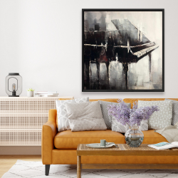 Framed 48 x 48 - Industrial style piano