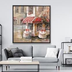 Framed 48 x 48 - Sunny restaurant terrace
