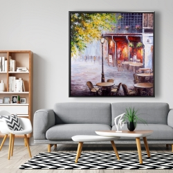 Framed 48 x 48 - Outdoor restaurant by a nice day