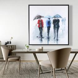 Framed 48 x 48 - Spring shower