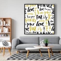 Framed 48 x 48 - Bonjour paris