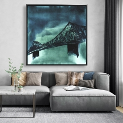 Framed 48 x 48 - Montreal jacques-cartier bridge