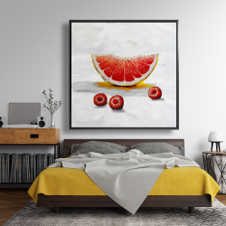Framed 48 x 48 - Grapefruit slice