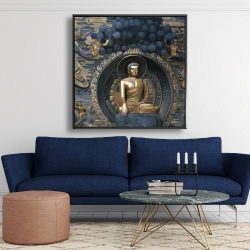Framed 48 x 48 - Grand buddha at lingshan scenic area in china