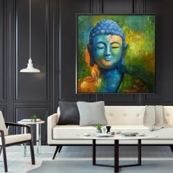 Framed 48 x 48 - Blissful buddha