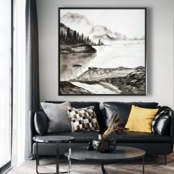 Framed 48 x 48 - Peaceful landscape