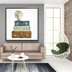 Framed 48 x 48 - Go around the world