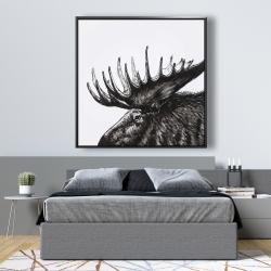 Framed 48 x 48 - Moose plume