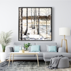 Framed 48 x 48 - Winter swamp