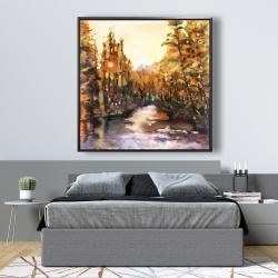 Framed 48 x 48 - Merced river