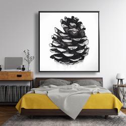 Framed 48 x 48 - Pine cone