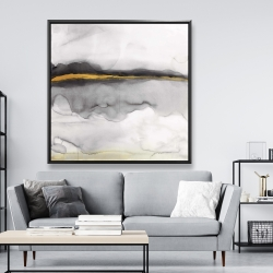 Framed 48 x 48 - Gold stripe abstract