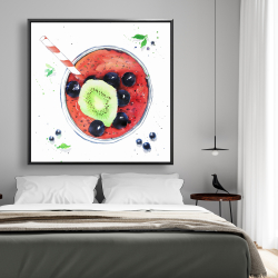 Framed 48 x 48 - Berry smoothies