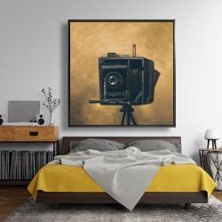 Framed 48 x 48 - Vintage camera