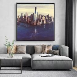 Framed 48 x 48 - City of new-york vintage