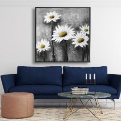 Framed 48 x 48 - Daisies