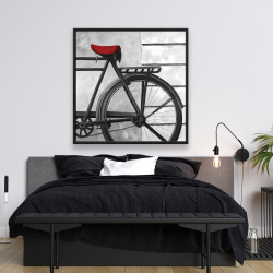 Framed 48 x 48 - Rear bicycle
