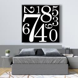 Framed 48 x 48 - 1 to 9
