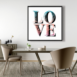 Framed 48 x 48 - Colorful love