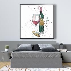 Framed 48 x 48 - Bottle of red wine