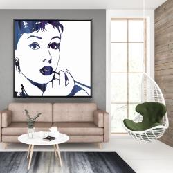 Framed 48 x 48 - Audrey hepburn: cigarillo