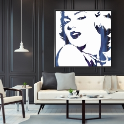 Framed 48 x 48 - Marilyn monroe in blue