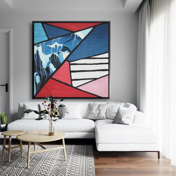 Framed 48 x 48 - Diagonal unity