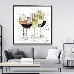 Framed 48 x 48 - Beautiful wine glasses