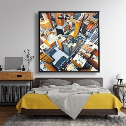 Framed 48 x 48 - High top view of buildings in new york