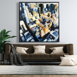 Framed 48 x 48 - Manhattan view of the empire state building