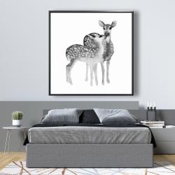 Framed 48 x 48 - Fawns love