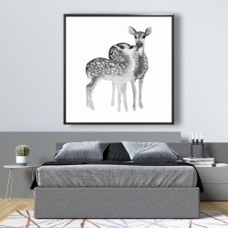 Framed 48 x 48 - Fawns love