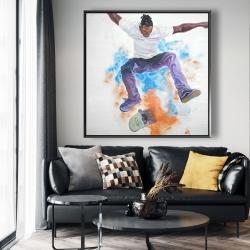 Framed 48 x 48 - Skater