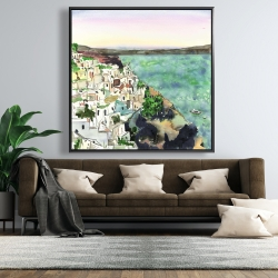 Framed 48 x 48 - Landscape of crete