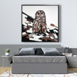 Framed 48 x 48 - Tawny owl