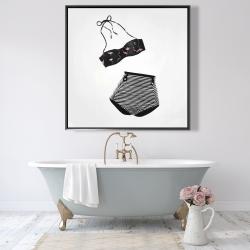 Framed 48 x 48 - Vintage women's swimsuit