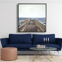 Framed 48 x 48 - Relaxing beach