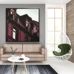 Framed 48 x 48 - Architectural building