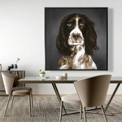 Framed 48 x 48 - Brown english springer spaniel