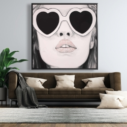 Framed 48 x 48 - Mademoiselle in pink