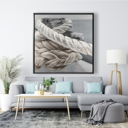 Framed 48 x 48 - Twisted boat rope