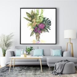 Framed 48 x 48 - Tropical flower assemblage