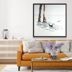 Framed 48 x 48 - Seagull