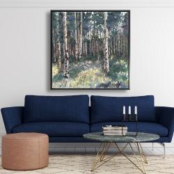 Framed 48 x 48 - Birches