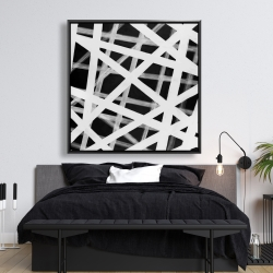 Framed 48 x 48 - Geometric stripes