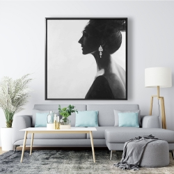 Framed 48 x 48 - Chic woman